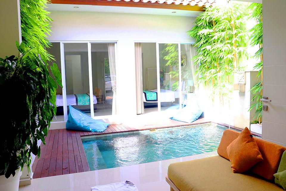 Villa Minimalis dengan 2 Kamar Tidur dan Private Pool